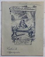 Ancien Cahier D'écolier Les Fables De La Fontaine Le Chat La Belette Lapin Huguette Moriceau St Denis D'Anjou - Andere