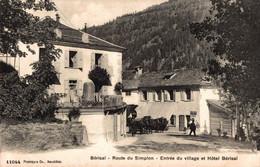 G0611 - BERISAL - SUISSE - Route Du Simplon - Entrée Du Village Et Hôtel Bérisal - Unclassified