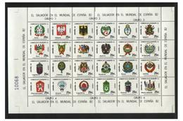 Soccer World Cup 1982 - EL SALVADOR - Sheet MNH - 1982 – Espagne