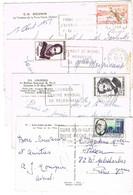 COMMEMORATIFS 12F ANNEE 50 SEULS SUR 7 CPSM - 1921-1960: Modern Period