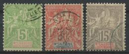 Nouvelle Caledonie (1900) N 59 à 61 (o) - Usados