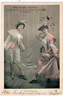 SPECTACLE. OPERA. BERGERADES WATTEAU DANSEES Par LEA Et RENEE PIRON. REVERENCE. 1903. - Opera
