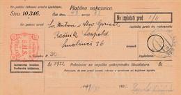 Slovenia SHS 1921 Postal Money Order With SHS Postage Due Stamp, Postmark SV.ANTON V SLOV GOR. - Slovenia