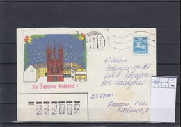 Litauen Michel Cat.No. Postal Stat U8 Used - Lithuania