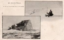 LES HAUTES VOSGES-MILITAIRES-LUGE-NEIGE-1902 - Zonder Classificatie