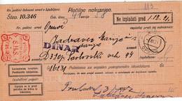 Slovenia SHS 1921 Postal Money Order With Kingdom SHS Postage Due Stamp, Postmark ORMOŽ - Slovenia