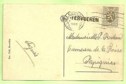 280 Op Kaart Stempel LEUVEN Met Naamstempel (Griffe D'origine) TERVUEREN (K6076) - 1929-1937 Leone Araldico