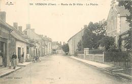 Dep - 18 - VESDUN Route De Saint Vitte La Mairie - Sonstige Gemeinden