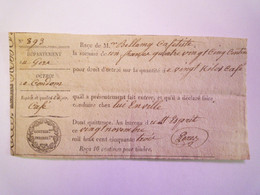 2020 - 8410  CONDOM  (Gers)  :  Reçu De DROITS D'OCTROI Pour 20 Kilos De Café  1853   XXX - Sin Clasificación