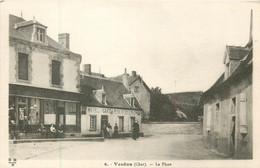 Dep - 18 - VESDUN La Place Hotel Café Du Midi - Sonstige Gemeinden