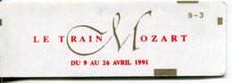 FRANCE - 1991 Carnet N° 2614-C11 Type Marianne De Briat - 2,30 Fr. Rouge - Conf 9-3 - 10 Timbres LE TRAIN MOZART - Uso Corrente