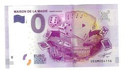Billet Zéro Euro Touristique 2016 Maison De La Magie - Zonder Classificatie