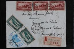1938 .LSC CAD POSTES AUX ARMEES 431 DU 10/02/1938 RECOMMANDEE SECTEUR 431 NO 624 POUR MARRAKECH - Briefe U. Dokumente