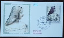 FDC 1986 - YT N°2446 - LEONARD DE VINCI / ISABELLE D'ESTE - PUTEAUX - 1980-1989