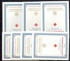 France Sept Carnets Croix-Rouge 1959 Avec Oblitération 1er Jour. TB. A Saisir! - Cruz Roja