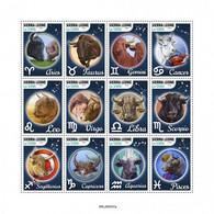 SIERRA LEONE 2020 - Zodiac, Arrows. Official Issue [SRL200537] - Boogschieten