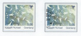 COB  3884/3885  (MNH) + (°)  Emission Commune - Timbres Du Groenland - Ongebruikt