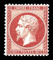 N°24, 80c Rose-pâle, Frais. TTB (signé/certificats)  Qualité: *  Cote: 2300 Euros - 1862 Napoléon III