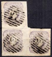 Portugal YT N° 17 En Bloc De Trois Timbres Oblitérés. A Saisir! - Used Stamps