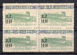 Algérie Colis-Postaux N° 130 Neuf ** En Bloc De 4 - Cote +36€ - Parcel Post