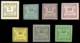 N°6/12, Série De 1884, Les 7 Valeurs TB (certificat)  Qualité: *  Cote: 800 Euros - Postage Due