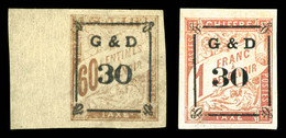 N°13/14, Les 2 Valeurs SUP (signés Calves/certificat)  Qualité: *  Cote: 810 Euros - Postage Due