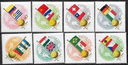 Ungheria/Hungary/Hongrie: Bandiere Delle Nazioni Partecipanti, Flags Of Participating Nations, - 1962 – Chili