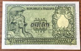 50 LIRE ITALIA ELMATA 31 12 1951 Di Cristina Q.FDS/fds NATURALE LOTTO 2760 - 50 Lire