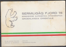 GREENLAND - 1971 - ITALIAN EXPPEDITION POSTCARD TO  ARMA DI TAGGIA  ,SIGNED - Brieven En Documenten