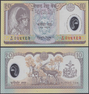2002 NEPAL PLASTIC BANKNOTE 10P - Nepal