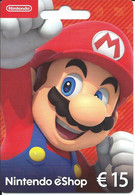 CARTE CADEAU - Nintendo êShop 15€ -- 1 - Gift Cards