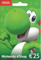 CARTE CADEAU - Nintendo êShop 25€ -- 1 - Gift Cards