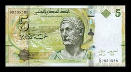 Túnez Tunisia 5 Dinars 2013 Pick 95 SC UNC - Tusesië