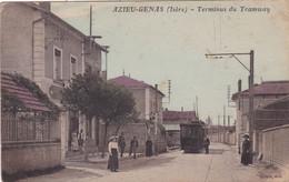 Isère : AZIEU-GENAS : Terminus Du Tramway : Animée : Colorisée - Otros Municipios