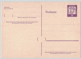"""LA725   BRD Amtliche Ganzsachen-Postkarte P 59 WSt. """"Bedeutende Deutsche - Johannes Gutenberg"""" 8(Pf) Violett, Ungebrauch - Postkarten - Ungebraucht"""