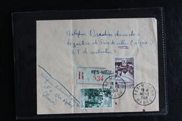 1949,LSC FES MELLAH RECOMMANDEE NO 534 POUR CONSTANTINE ALGERIE CAD MEKNES 30/03/49 CAD ARRIVEE DU 02/04/49 - Briefe U. Dokumente