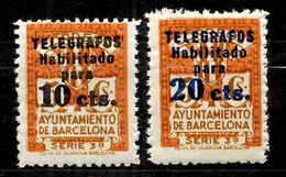 Espagne/Barcelone YT N° 18 Et 19 Neufs ** MNH. TB. A Saisir! - Barcelona