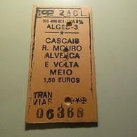 Ticket Portugal CP Algés-3 Meio - Europa