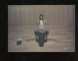 Publicité Nike Carte Lenticulaire Ad Card Japon 2003 - Pubblicitari