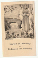 Image Pieuse Souvenir De Beauraing - Devotion Images