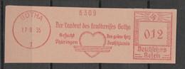 Deutsches Reich Briefstück Mit Freistempel Gotha 1935 Der Landrat Des Landkreises Gotha - Poststempel - Freistempel