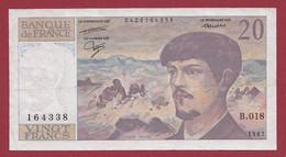 """20 Francs """"Debussy"""" --1987 ---ALPH  .B.018  Dans L 'état - 20 F 1980-1997 ''Debussy''"""