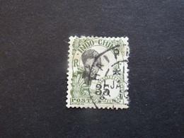 INDOCHINE  1907 Variété  35 Déplacer - Oblitérés