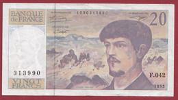 """20 Francs """"Debussy"""" --1993 ---ALPH  .F.042  Dans L 'état - 20 F 1980-1997 ''Debussy''"""