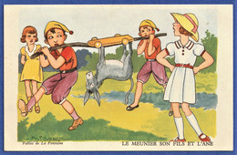 CPA ILLUSTRATEUR V.S PAHN - Fables De La Fontaine - LE MEUNIER SON FILS ET L'ANE - Other Illustrators