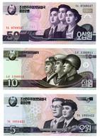 Corée Du Nord / Lot De 3 Billets - Korea, North