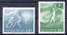 CHILI. N°295-6 De 1962. Coupe Du Monde 1962. - 1962 – Chili