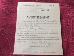 """CONTRAVENTION AVERTISSEMENT PREFECTURE DE POLICE MUNICIP -""""Rue DU FOUR DÉFAUT ÉCLAIRAGE"""" MOTO MOTOCYCLETTE-☛Motocyclisme - Motor Bikes"""