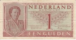 BILLETE DE HOLANDA DE 1 GULDEN DEL AÑO 1949  (BANKNOTE) JULIANA - 1 Gulde