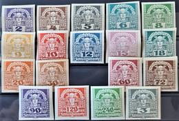 AUSTRIA 1920/21 - MLH/canceled - ANK 293-311x (exc. 305)- Newspaper Stamps - Nuevos